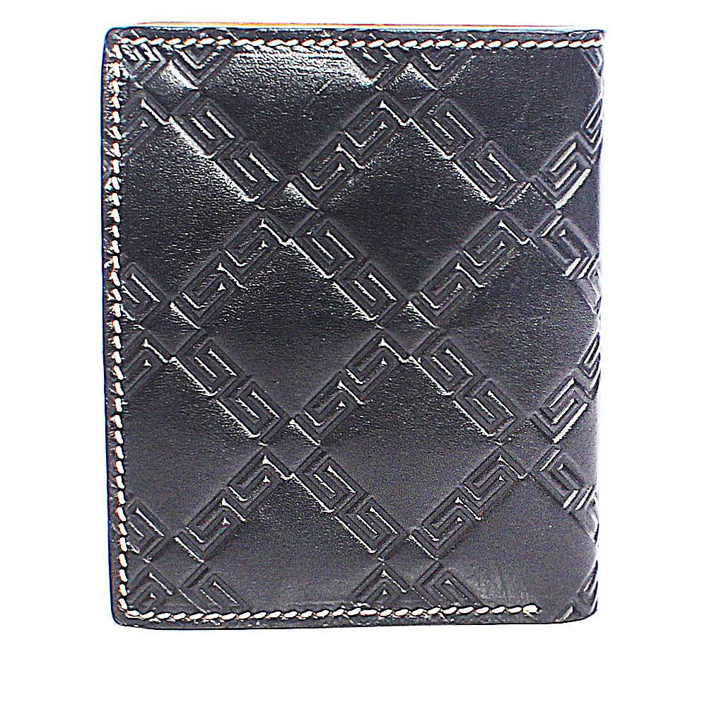 Black Patterned Leather Wallet