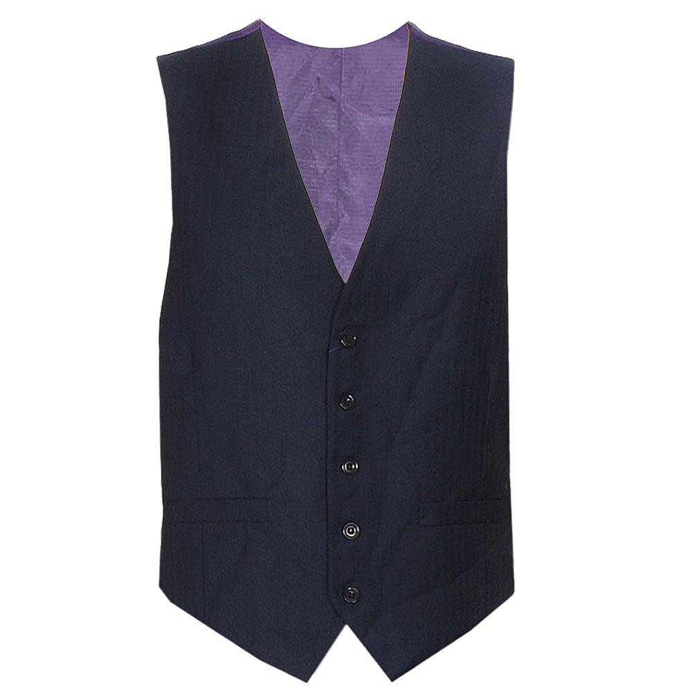 M & S Sartorial Purple/Black Men's Waist Coat Size- S