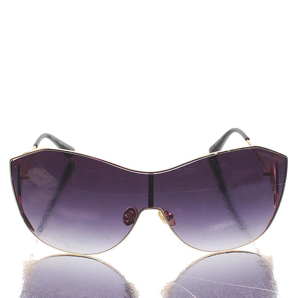 Gold Black Shield Sunglasses