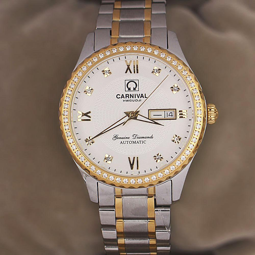 Shanghai Oyster Diamond 2-Tone Stainless Steel Automatic Watch