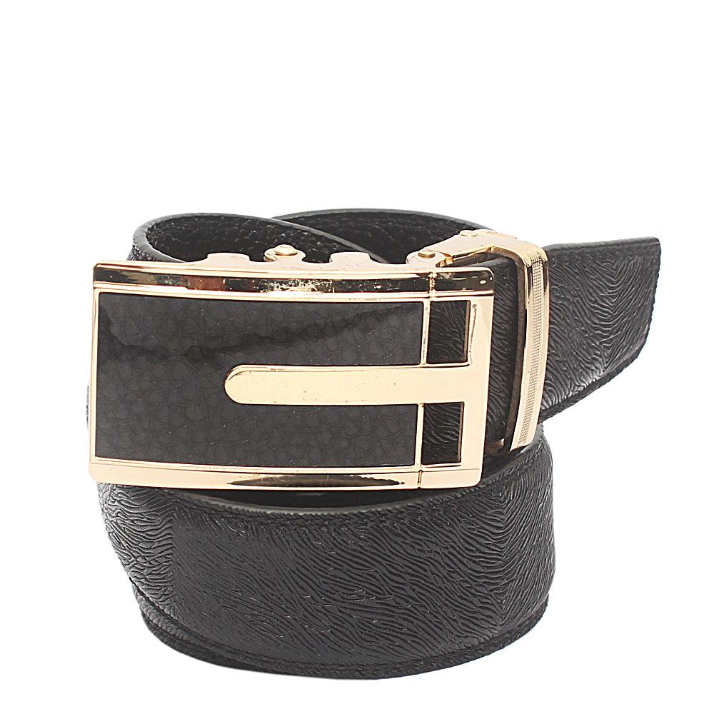 Black Animal Skin Exotic Leather Belt L 50 Inches