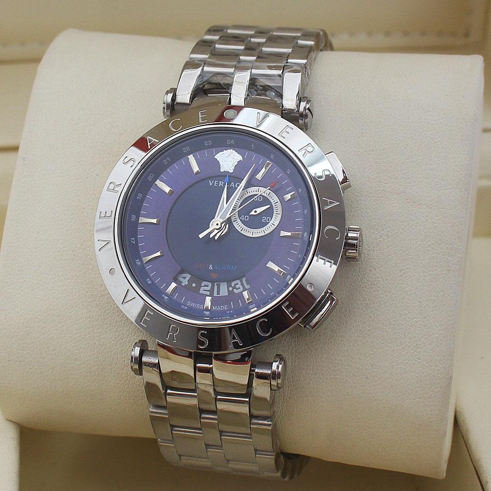 Silver V-Race GMT & Alarm Men Watch -comes in wholesale case