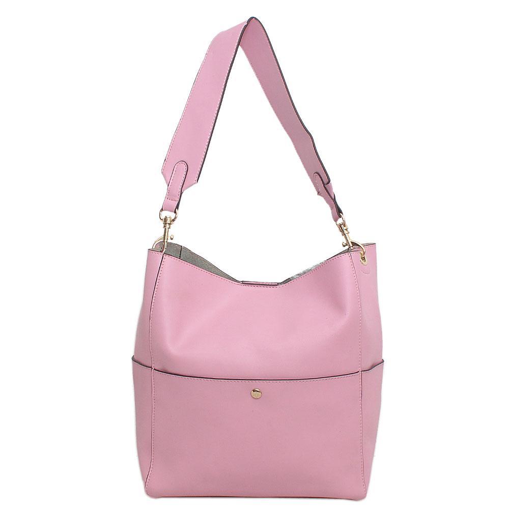 London Style Pink Leather Shoulder Bag
