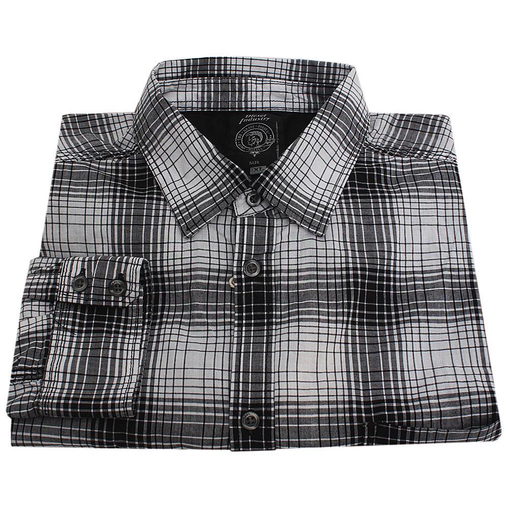 Diesel White Black L/Sleeve Men Casual Shirt Sz 18