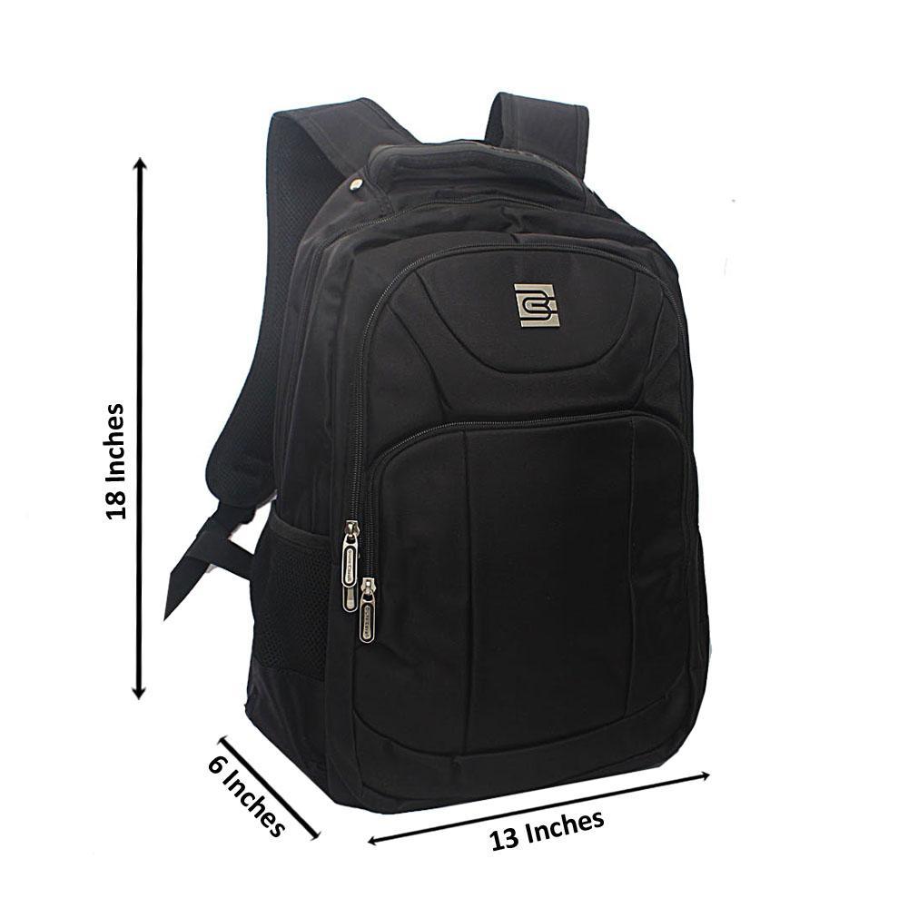 Black Multi Zip Bruno Cavali Backpack