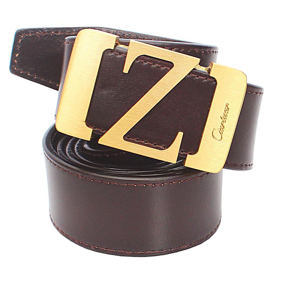 Coffee Brown Italian Leather Belt L48