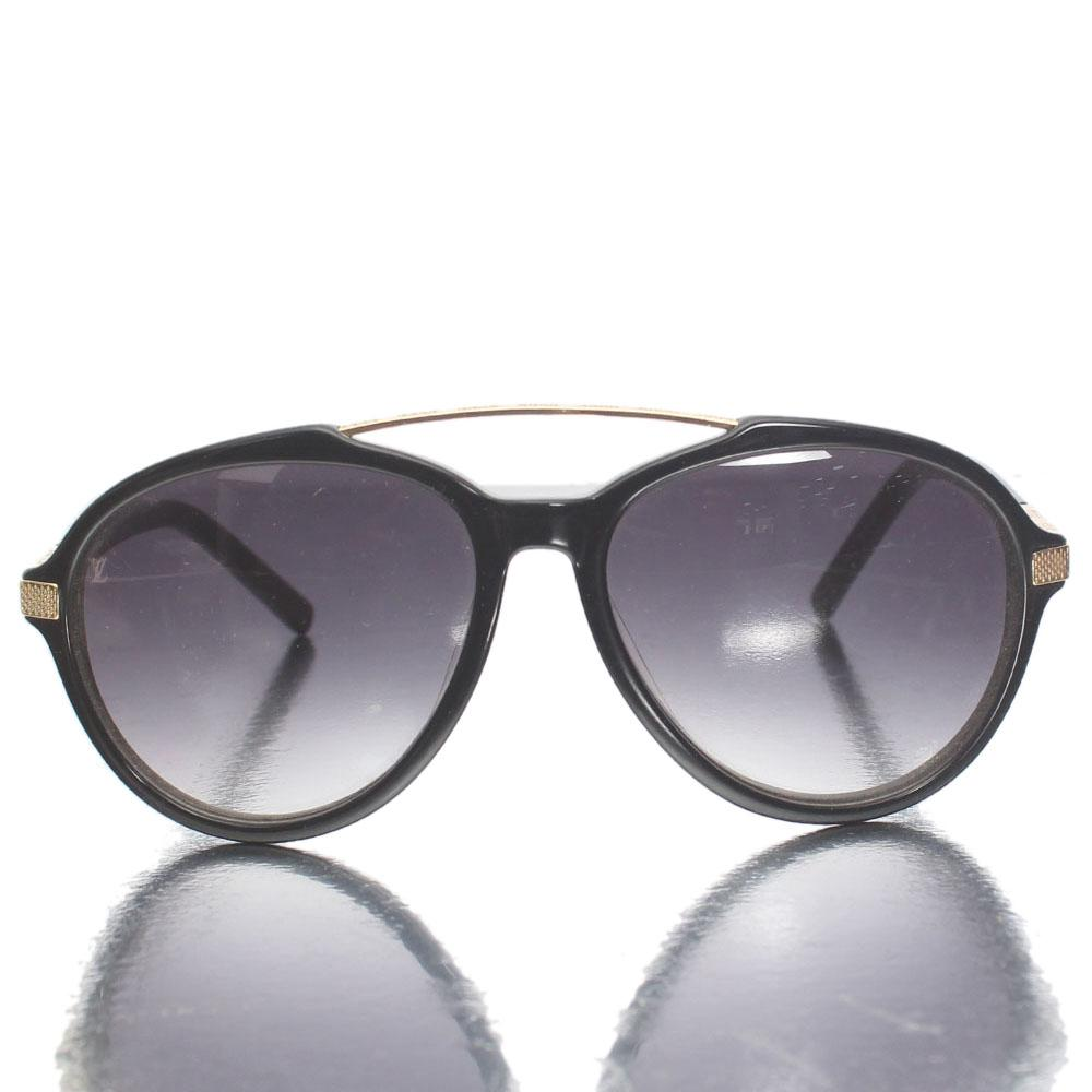 Gold Black Tear Drop Aviator Sunglasses