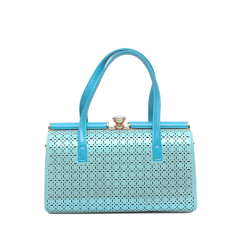 Melrose Turquoise Patent Leather Handbag