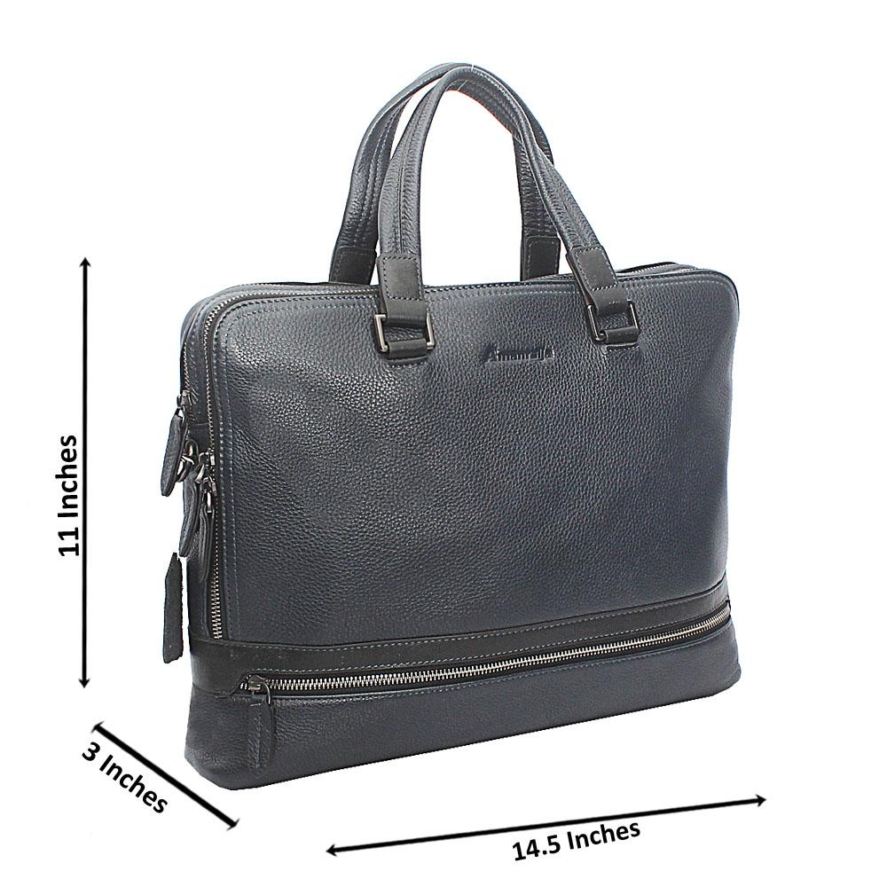 Navy Blue Knight Double Zip Tote Man Bag