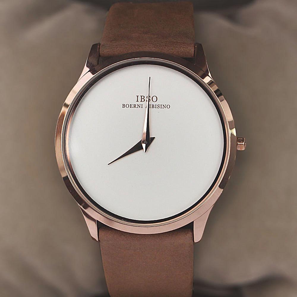 Wellman Khaki Leather Flat Watch