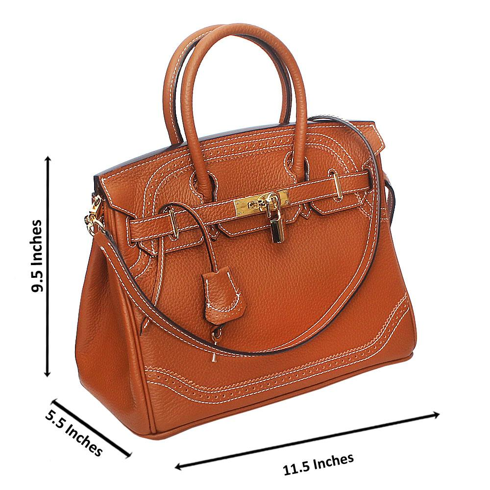 Brown Pebbled Montana Leather Birkin Handbag