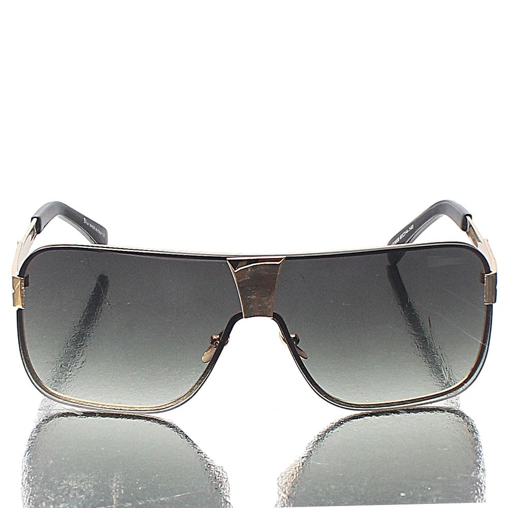 Gold Shield Green Lens Sunglasses