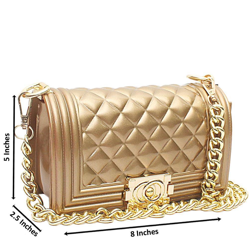 Gold Toyboy Mini Rubber Crossbody Bag