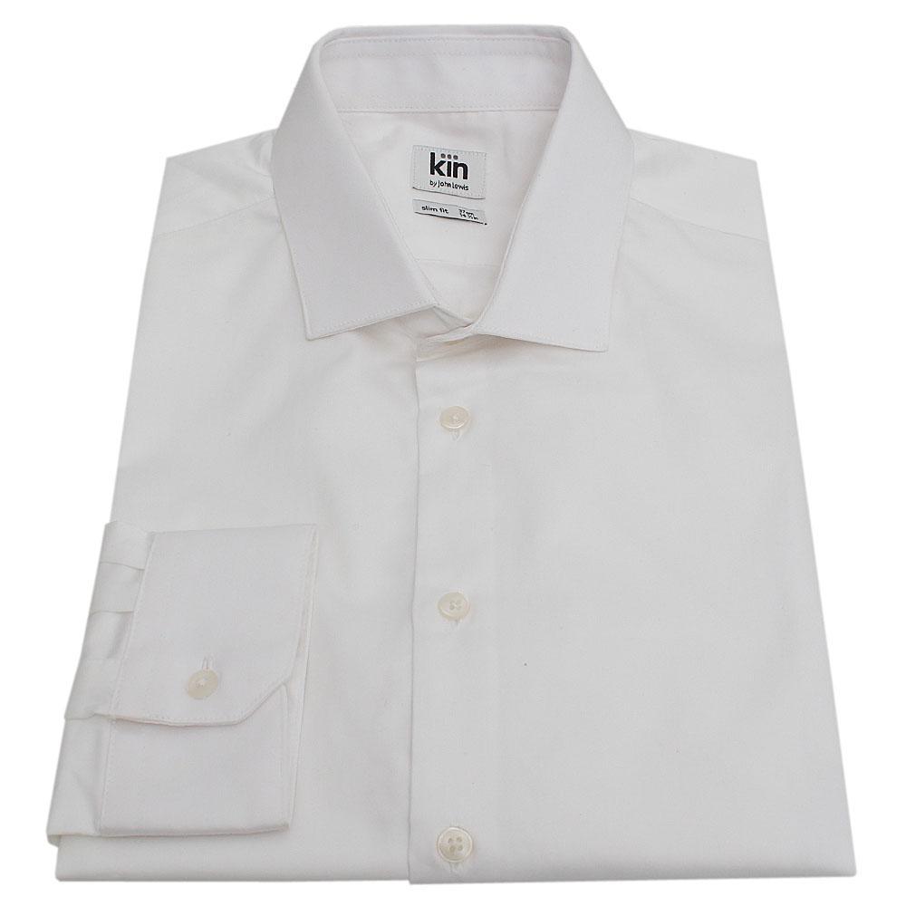 Kin White L/Sleeve Slim Fit Men Shirt