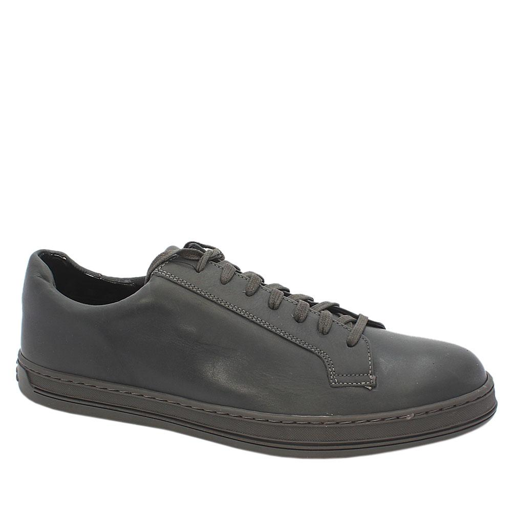M & S Autograph Gray Leather Men Sneakers
