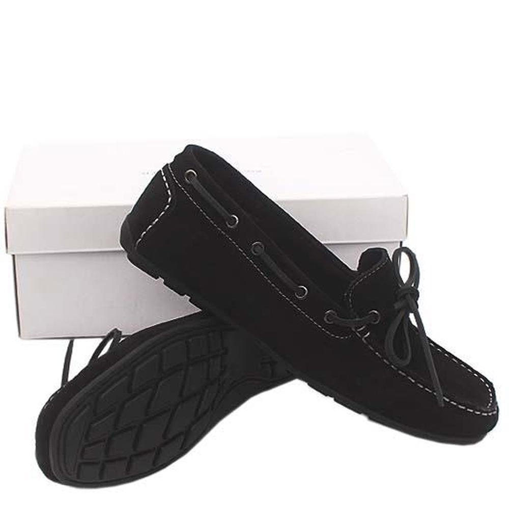 Kurt Geiger Black Suede Leather Men Loafers