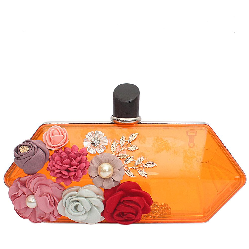 Orange Transparent Plastic Hard Clutch