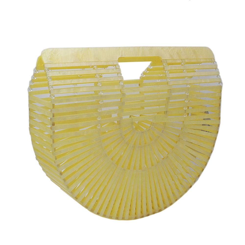 Yellow Ark Acrylic Clutch Purse