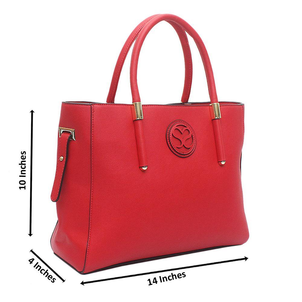 Susen Red Leather Handbag