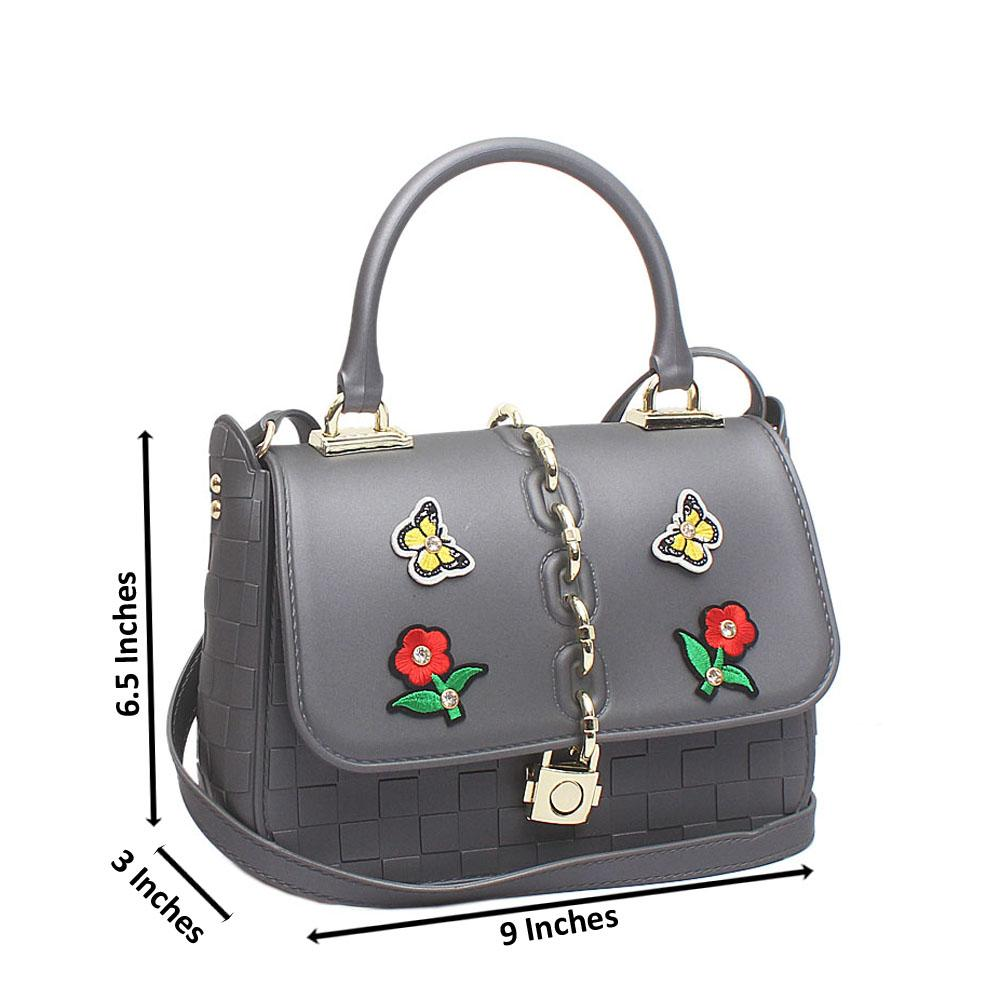 Grey Rubber Small Cutie Bag
