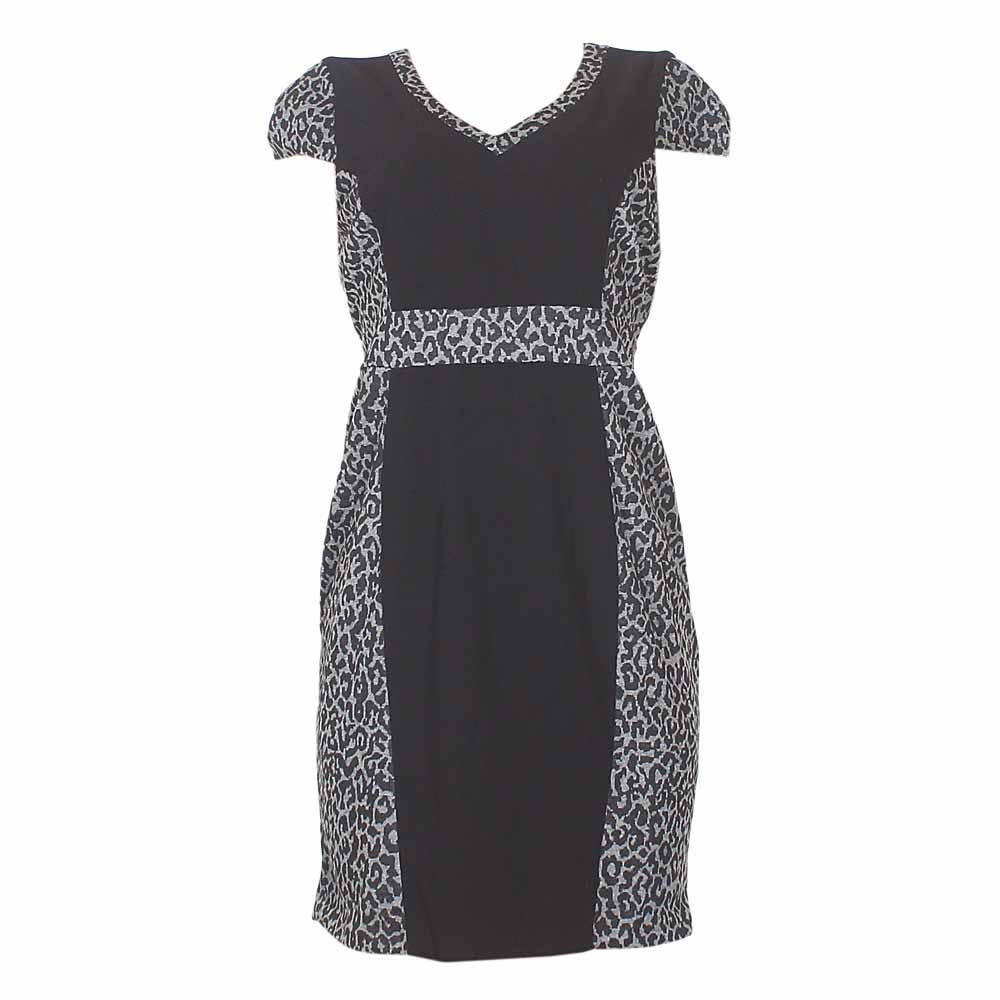 Nam & Co Black/Grey Cotton Ladies Dress-Uk 16