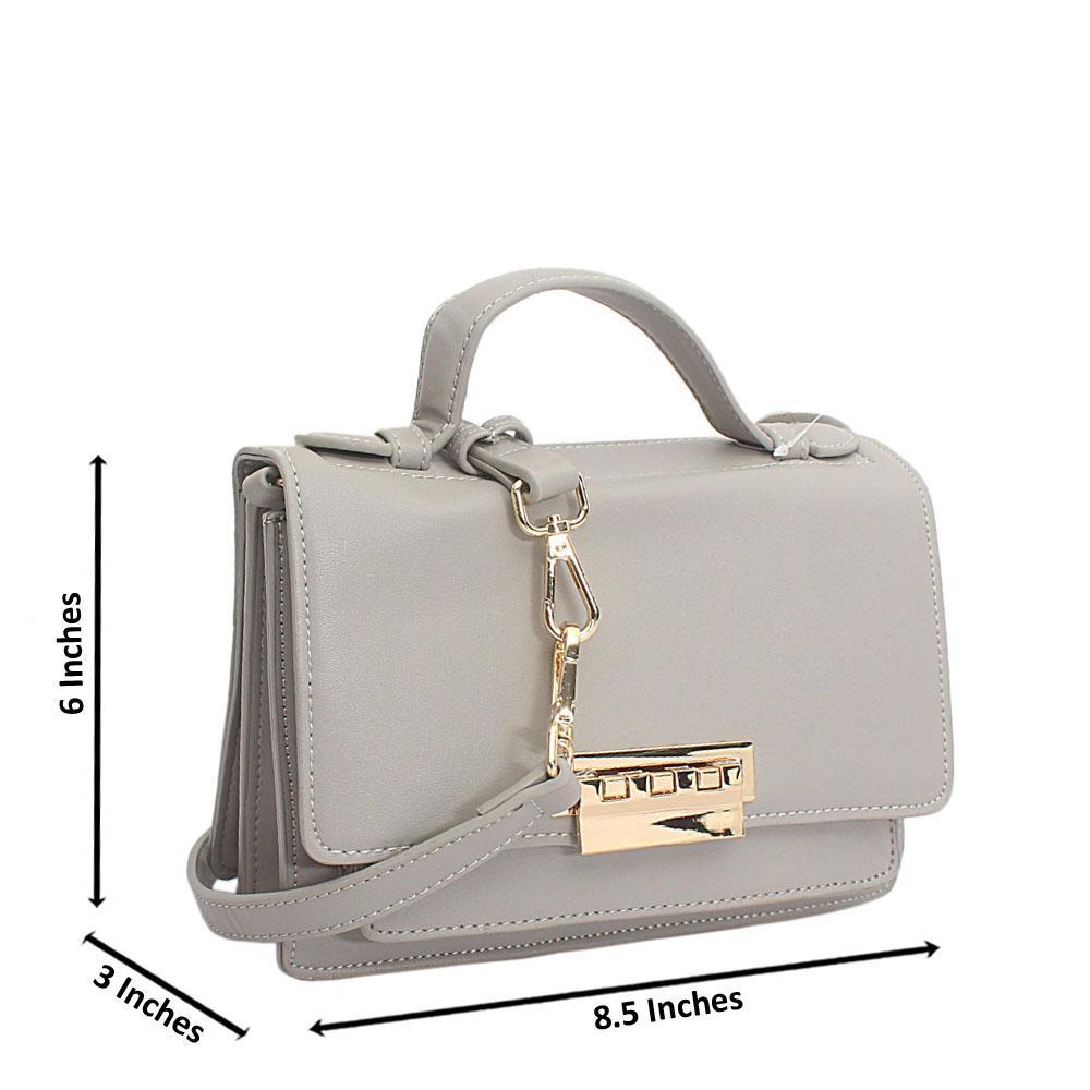 Grey Leather Mini Delightful Bag