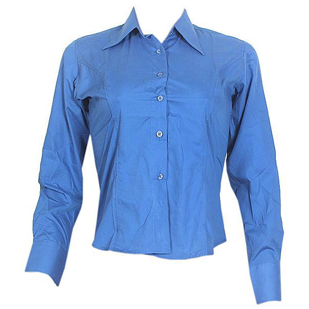 Pradizo Blue Ladies L/Sleeve Shirt