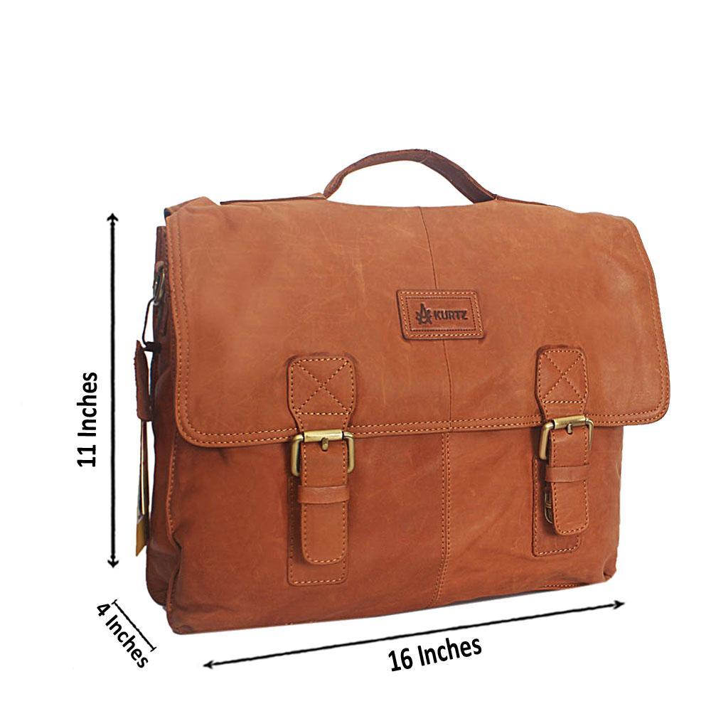 Brown Montana-Leather Messenger Bag