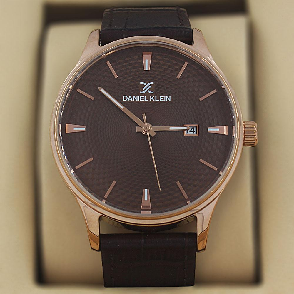 Daniel Klein Javier Coffee Croc Leather Classic Series Watch