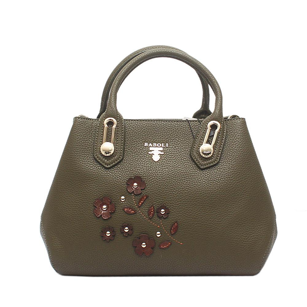 Baboli Green Leather Handbag