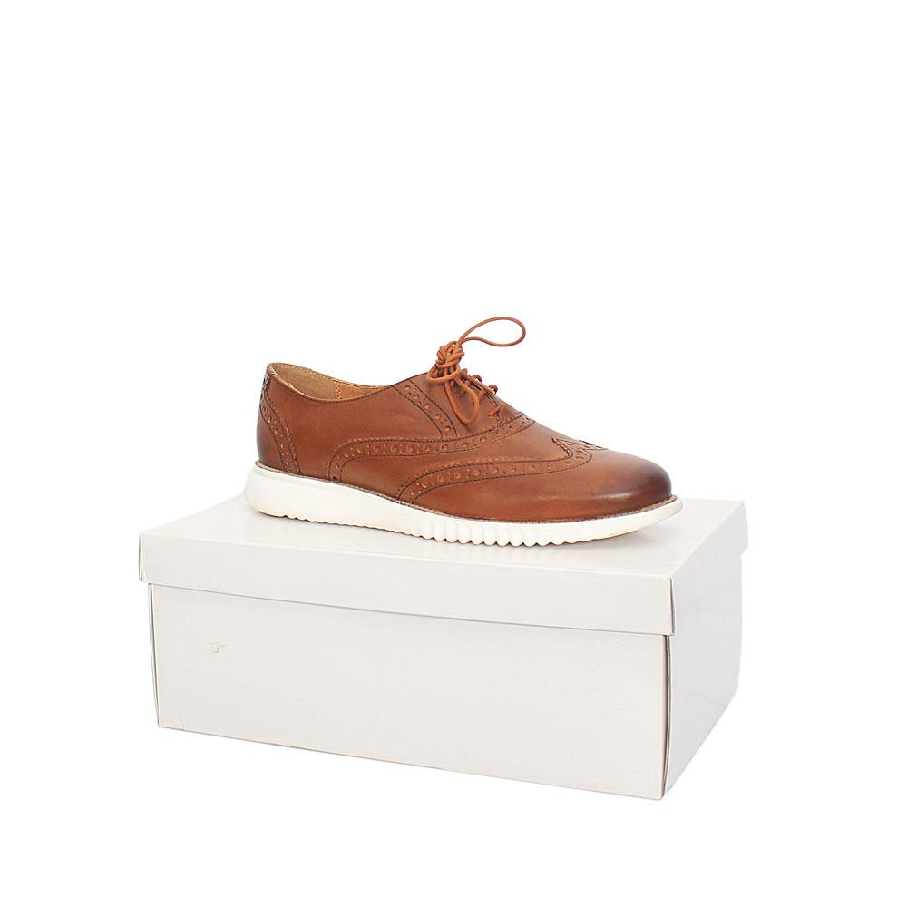 Kurt Geiger Blyth Brown White Leather Comfort Fit Men Shoe