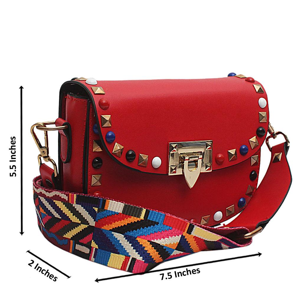 Cute Red Leather Small Bag