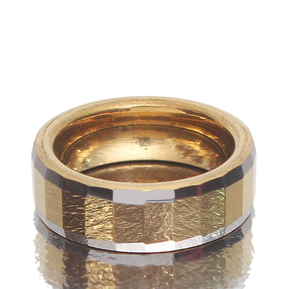 Shimmering Twin-Tone Gold Band