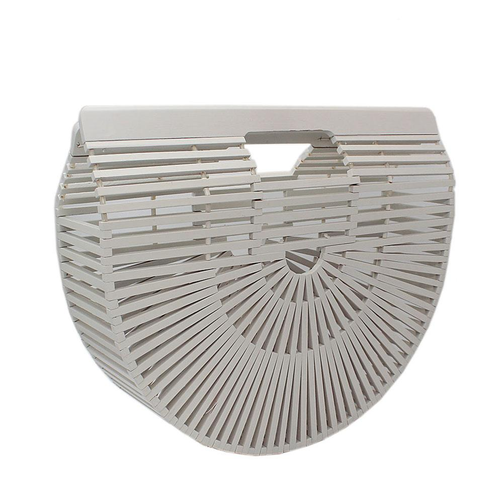 White Ark Small wooden Clutch Purse