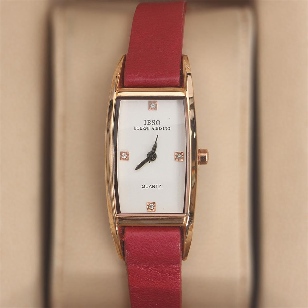Prima Boerni Pink Leather Slim Ladies Watch