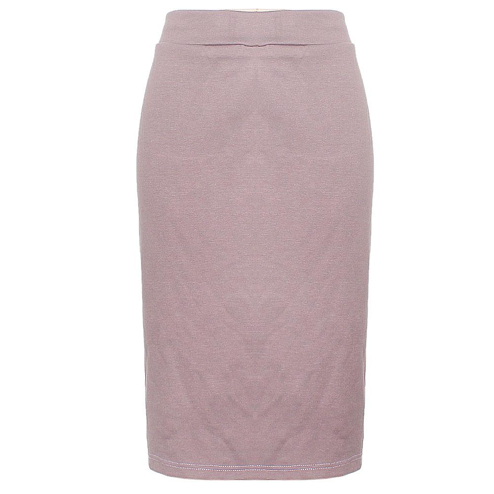 Lilac Cotton Stretch Skirt