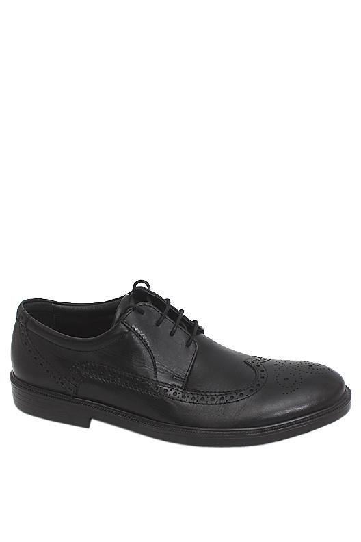 M & S Airflex Black Leather Men Brogue