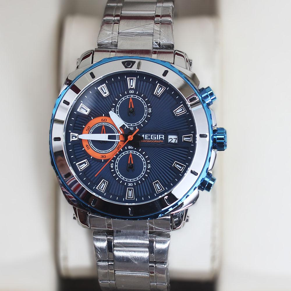 MG Silver Blue Chronograph Watch