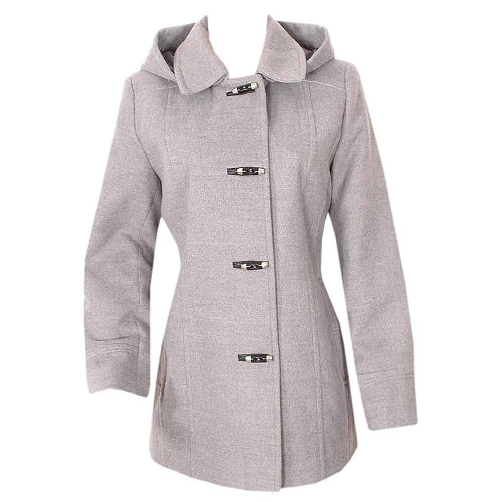 Per Una Gray L/Sleeve Wool Ladies Winter Suit Wt Hood-Uk 14/L 30