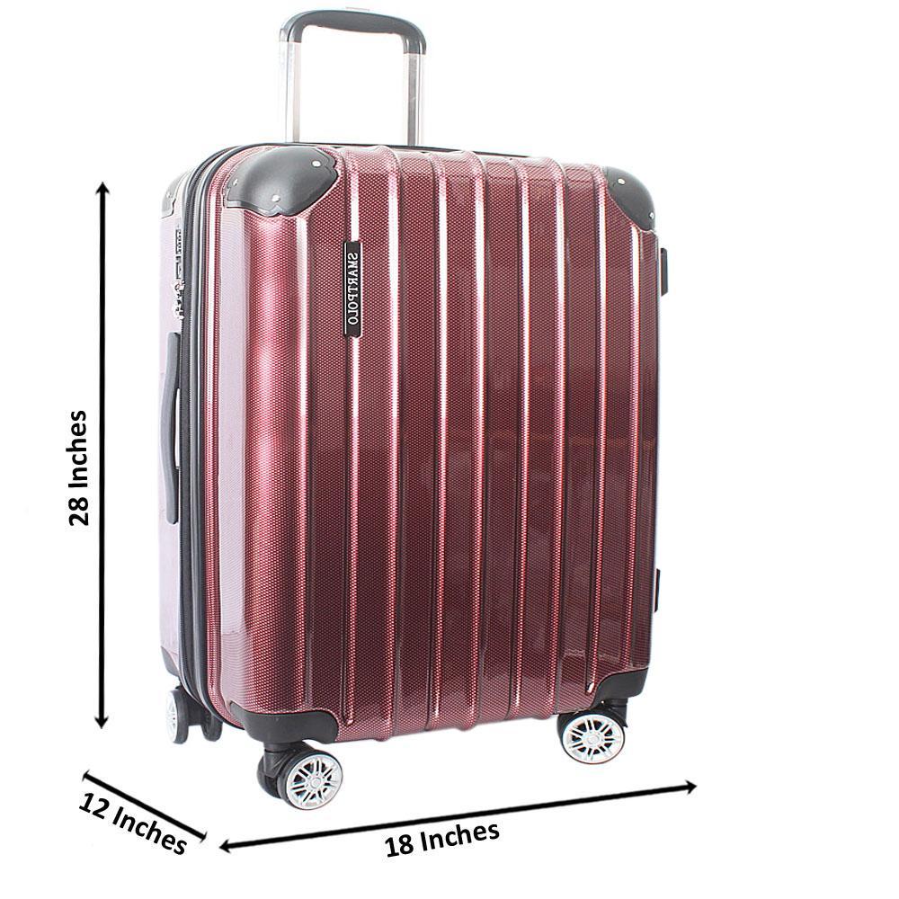 Wine 28 Inch Hardshell Large Suitcase Wt TSA Lock