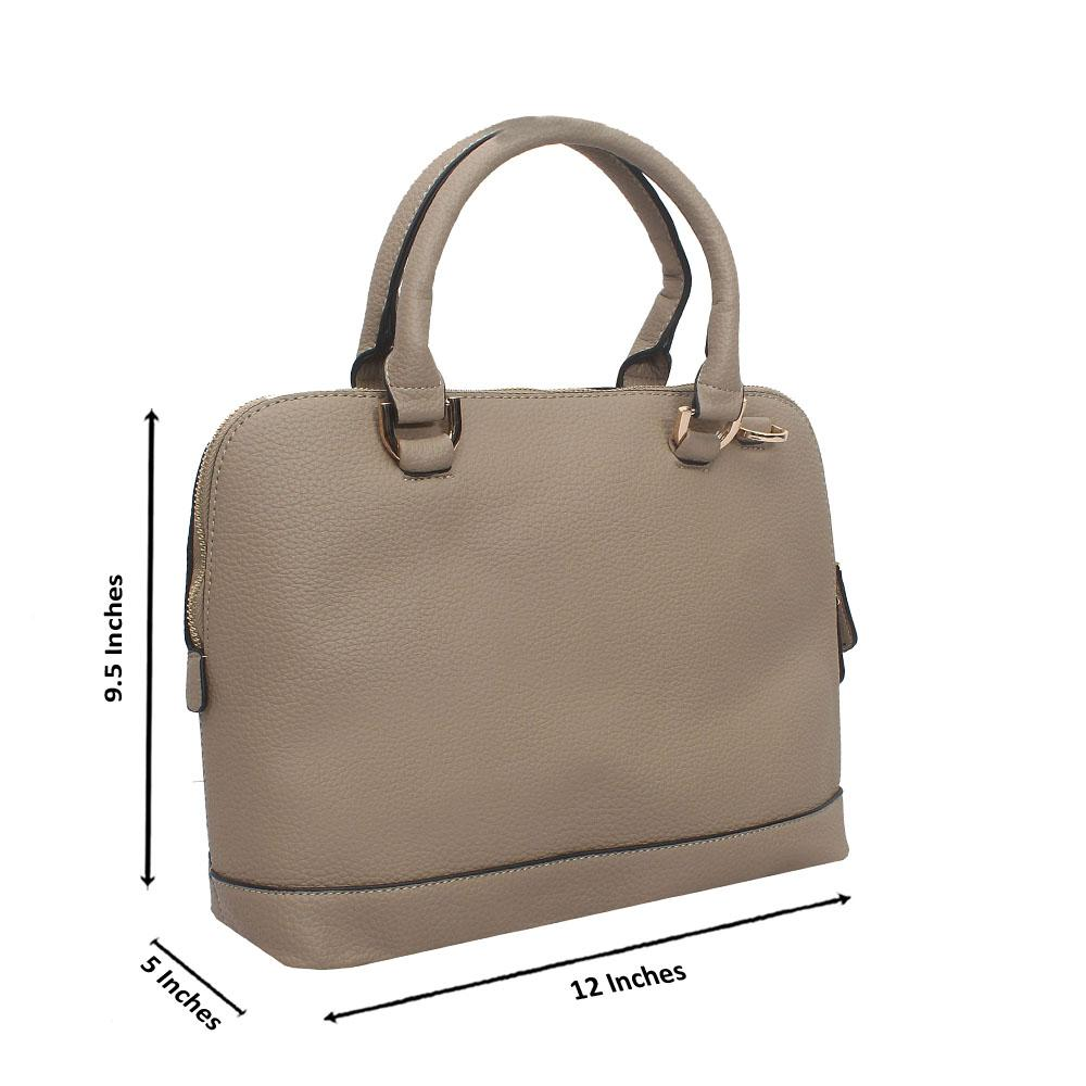 Light Khaki Leather Medium Avalon Handbag