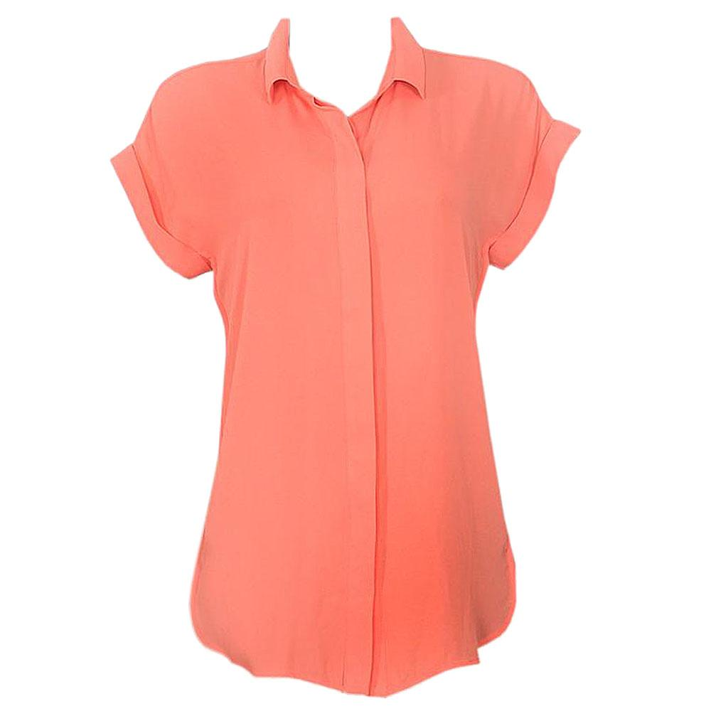 M & S Collection Orange S/Sleeve Ladies Chiffon Top-Uk 14