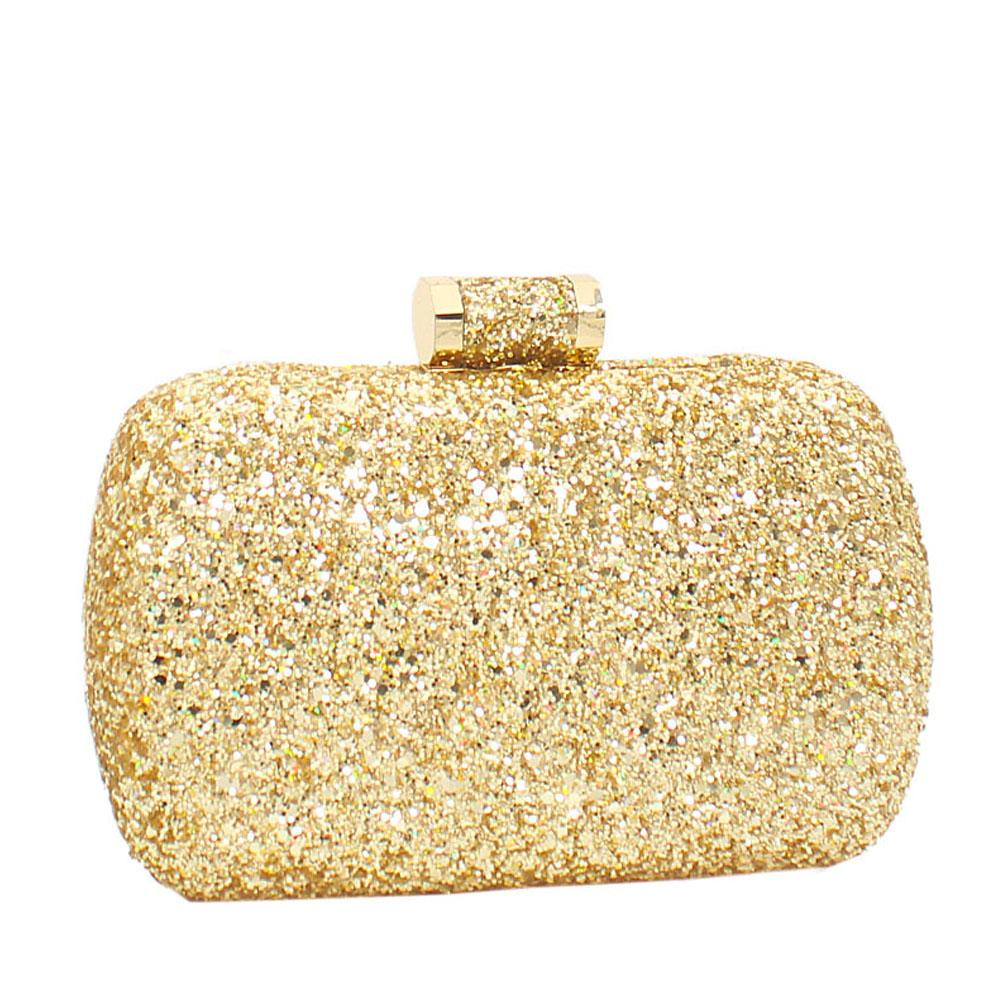 Gold Alice Glitz Clutch Purse