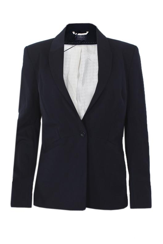 M&S Collection Navy Blue Ladies Suit Jacket