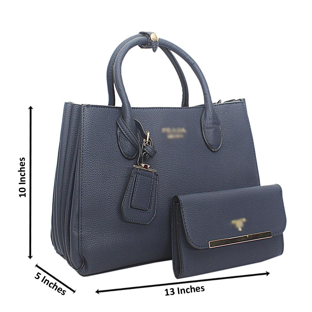 Blue Leather Handbag