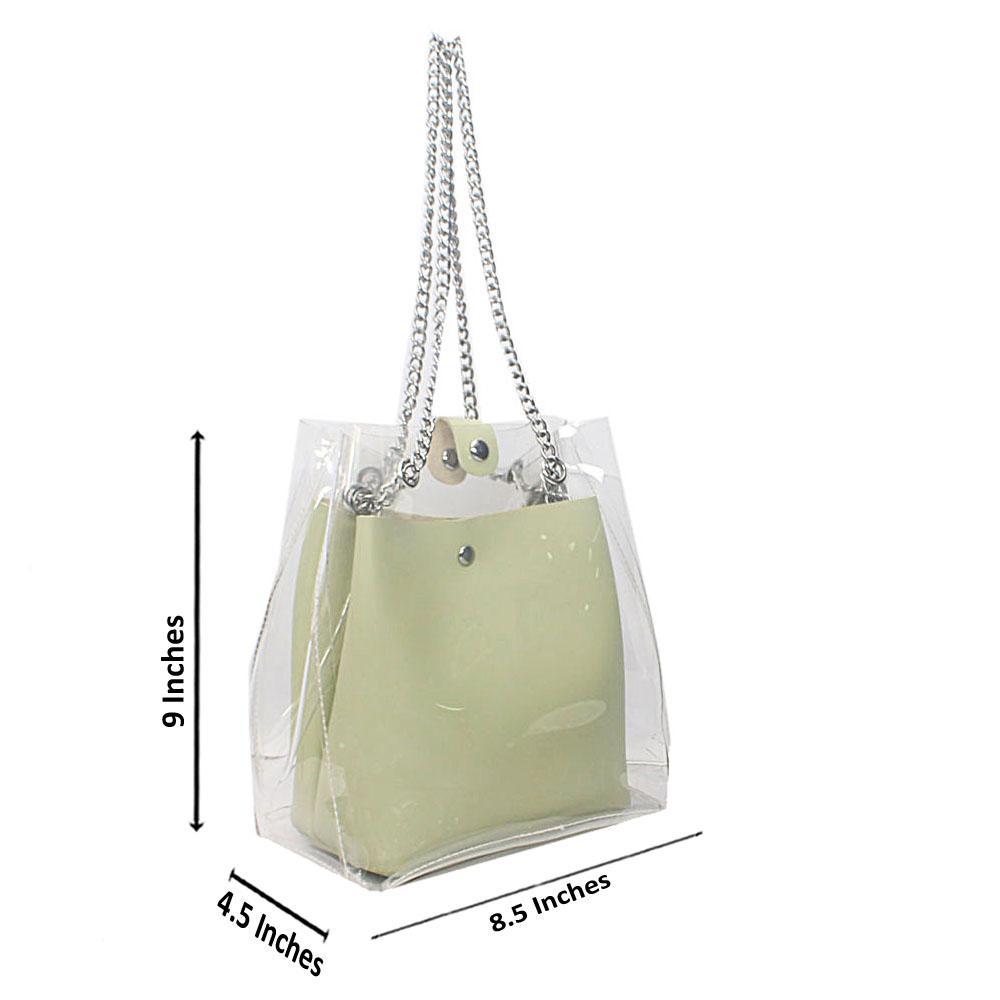 Lemon Transparent Ice Rubber Leather Mini Bag