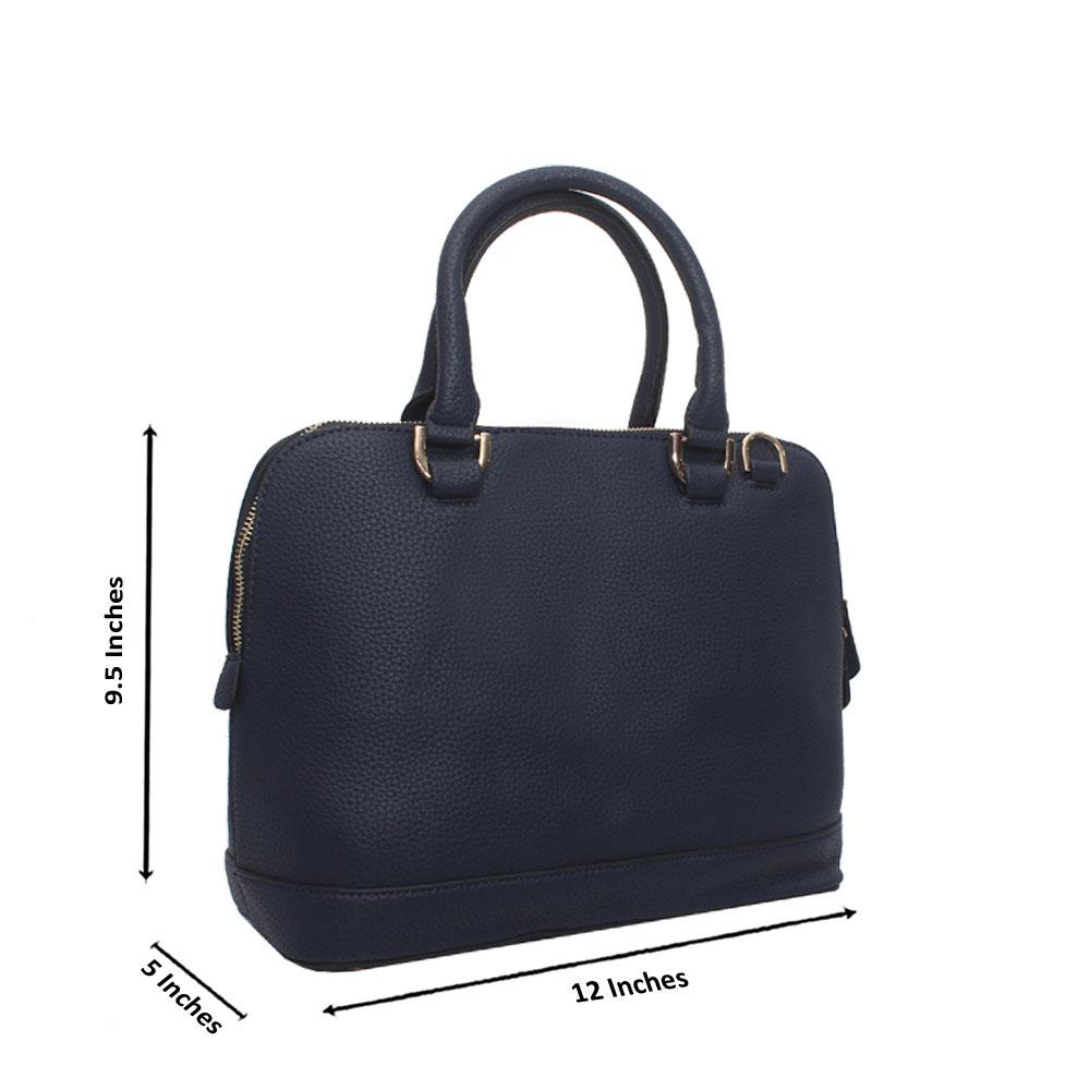 Navy Leather Medium Avalon Handbag