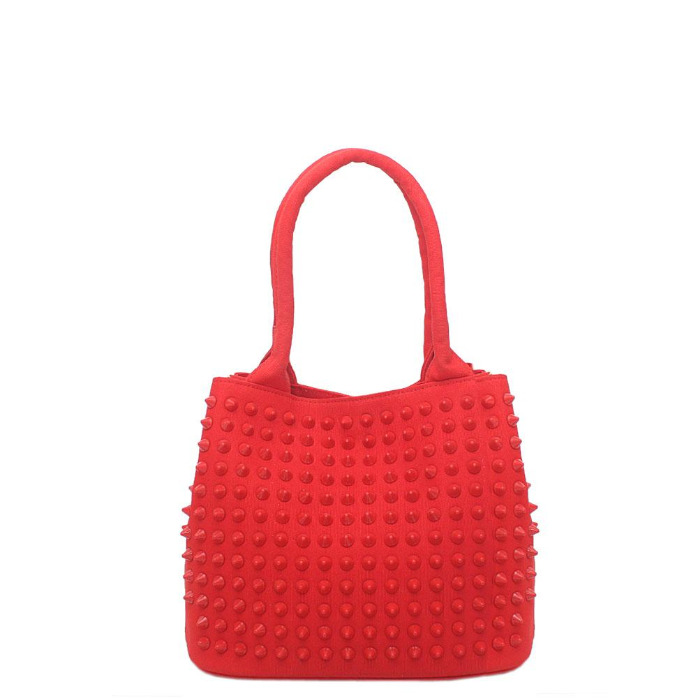 Diavel-Red-Fabric-Studded-Medium-Tote-Bag