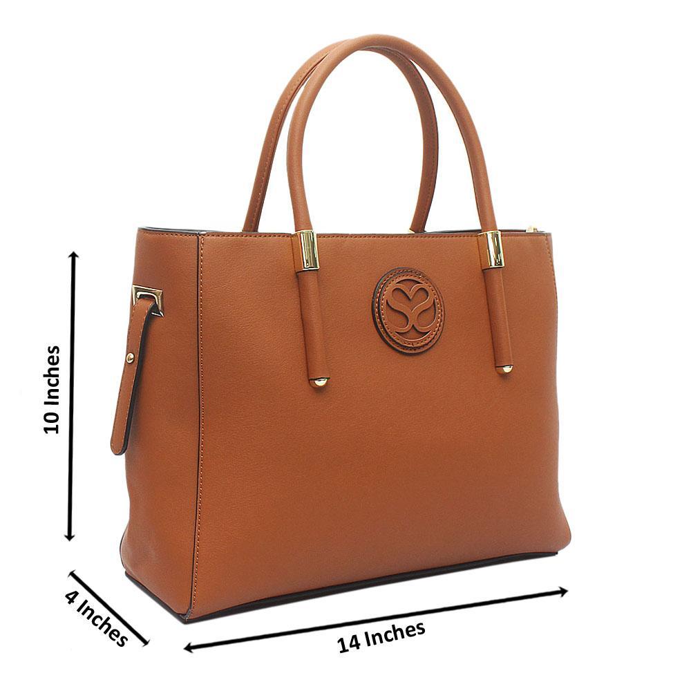 Susen Brown Leather Handbag