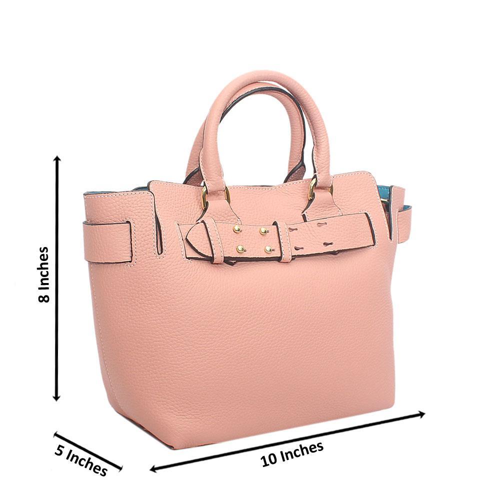 Stylish-Peach-Lady-Belted-Tuscany-Leather-Handbag
